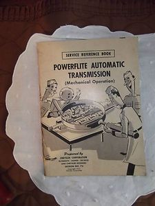 1953 Chrysler Service Reference Book Powerflite Auto Transmission