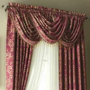 Chris Madden Verana Lined Drapes and 7 Waterfall Valances Complete Set