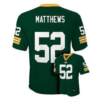 Clay Matthews Green Bay Packers Kids Boys NFL Youth Jersey Medium 10