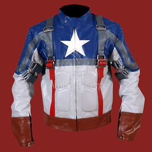 Avenger Captain America Genuine Biker Leather Jacket Chris Evans NWT