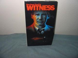 Witness 1985 VHS Thriller Movie Video Harrison Ford Kelly McGillis J