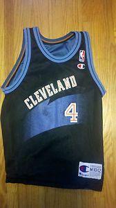 Shawn Kemp Chris Webber Reversible Champion Jersey Cleveland Cavs NBA