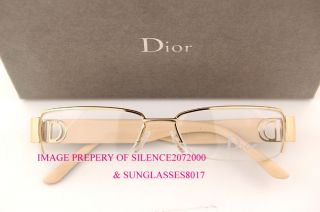 New Christian Dior CD Eyeglasses Frames 3703 ATI Gold