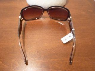 Brown Bronze Glitter Logo Sunglasses Christiana S618 Case New