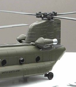 Army Helicopter aircraft Chinook Military airplane 10 long DieCast