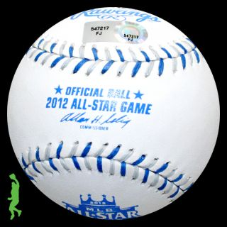 Chipper Jones Final as Game  Signed Auto 2012 All Star Baseball Ball