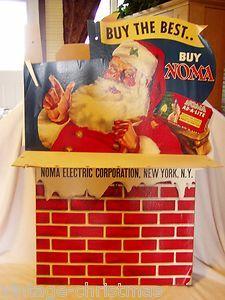 Noma Santa Department Store Christmas Bubble Lights Display