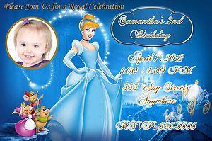 Personalized Cinderella Birthday Invitation Invite DIY Print