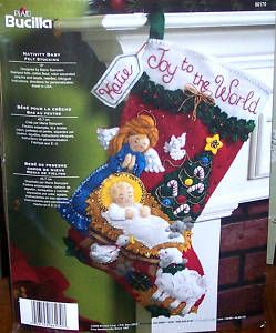 Bucilla Nativity Baby Felt Christmas Stocking Kit