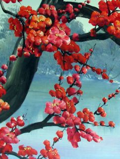 Original Abstract Art Chinese Cherry Blossom Painting