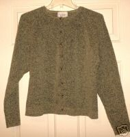 Christopher Banks Fuzzy Green Wool Button Cardigan Sz S