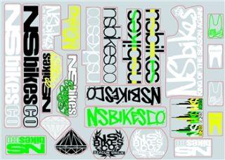 NS Bikes Frame Sticker Pack 2012