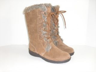White Mountain Toba 8 M Chestnut Brown Suede Winter Boots Womens Shoes