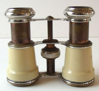 Antique Binoculars by Chevalier Paris Made in France Excellent