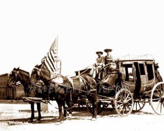 Spearfish South Dakota Deadwood SD Stagecoach Stage US USA Flag