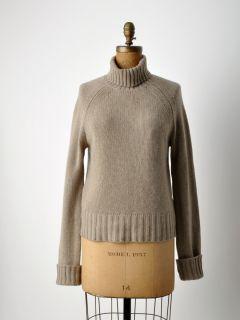 Christopher Fischer Tan Cashmere Turtleneck Sweater L