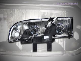 1998 2004 Chevy S10 Blazer JDM Black Headlights New 02