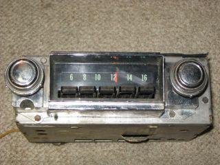 FACTORY ORIGINAL DELCO AM RADIO 1968 CHEVROLET IMPALA CAPRICE BISCAYNE
