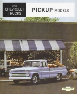Chevrolet 1965 Truck Sales Brochure 65 Chevy Pick Up