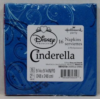 Disney Cinderella Birthday Party Set 8 Dessert Plates Cups 16 Beverage