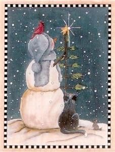 New Cindy Sampson Rubber Stamps Happen Christmas Winter Season Snowman