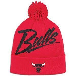 Chicago Bulls Beanie cap hat NBA official Mitchell Ness Vice Script