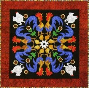 Rowdy Roosters 9 Circle of Friends Quilted Lizard Quilt Pattern