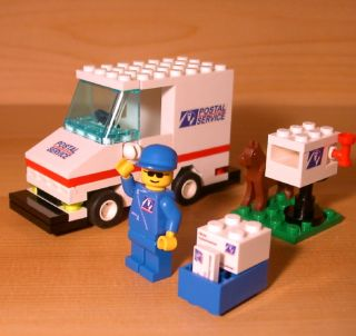 FUN CUSTOM POSTAL VEHICLE SET for town/city/train LEGO mail service