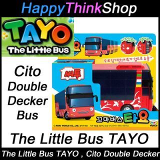 The Little Bus TAYO Diecast Platic Car   Cito Model Double Decker Full