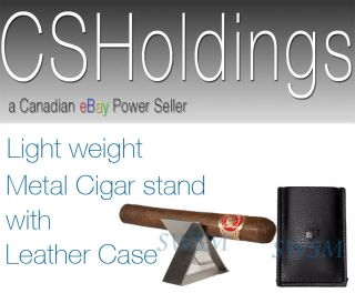 COHIBA Cigar Stand with Leather Case Pouch Cutter Punch Tools