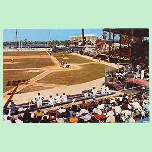 City Island Park Daytona Beach FL Expos Postcard