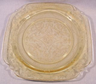 Federal Depression Glass Madrid Amber Luncheon Plate