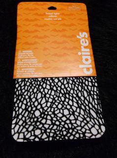 New Black Fishnet Spider Webs Hose Med LG Claires Brand