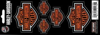chroma graphics harley davidson sheet of 5 bar shield decals