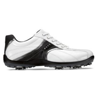 Ecco Casual Cool II Golf Shoes White Buffed Silver Moonless
