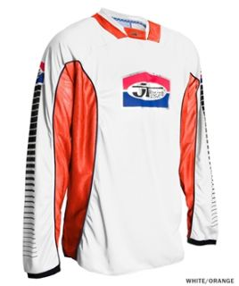 JT Racing Pro Tour Jersey   White/Orange 2012