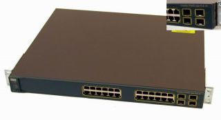 Cisco WS C3560G 24PS s Catalyst 24 Port Gigabit Ethernet Poe Switch 4