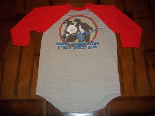 Vtg Bruce Springsteen 1981 Clarence Clemons T Shirt L