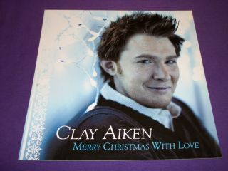 Clay Aiken Merry Christmas with Love 2004 RCA Records Promo Poster 12