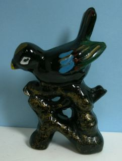 Vintage Japan Red Clay Pottery Animal Bird Figurine Hand Painted