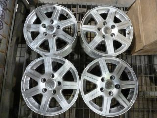 CHRYSLER TOWN AND COUNTRY WHEELS SILVER FINISH 16X6 5 SET OF 4