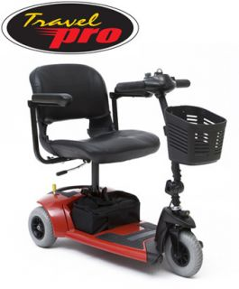 Pride Travel Pro Scooter 3 Wheel Red