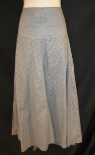 Coldwater Creek Gray Floral Embroidery A Line Calf modest Plus Church