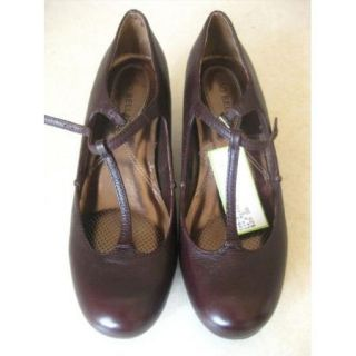 Ciao Bella Size 8 5 T Strap Mary Jane Heels Wedges Brown Pumps New