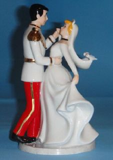 Art of Disney Cinderella Prince Charming Wedding Figurine Cake Topper