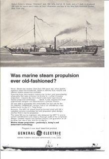 1969 GE MST 14 Steam Turbine Ad Robert Fulton Clermont