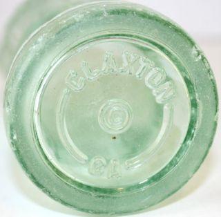 Vintage Coca Cola Embossed Hobbleskirt Soda Bottle Claxton, GA.