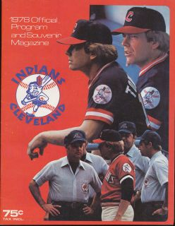 1978 Cleveland Indians vs Kansas City Royals Game Program Scorecard 4