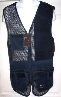 Top Gun Rio Mesh Clay Pigeon Skeet Shooting Vest Left Hand Handed Navy