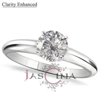 36 Carat Diamond 14k White Gold 4 Prong Solitaire Engagement